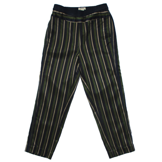 Laroux Pants Green Stripe