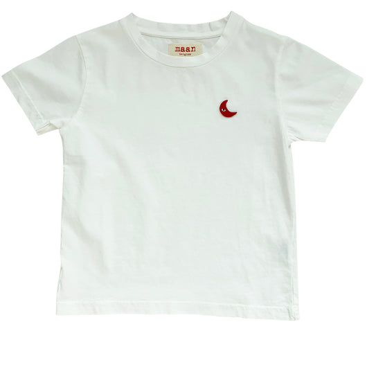 Maple Moon Knitted T-shirt White