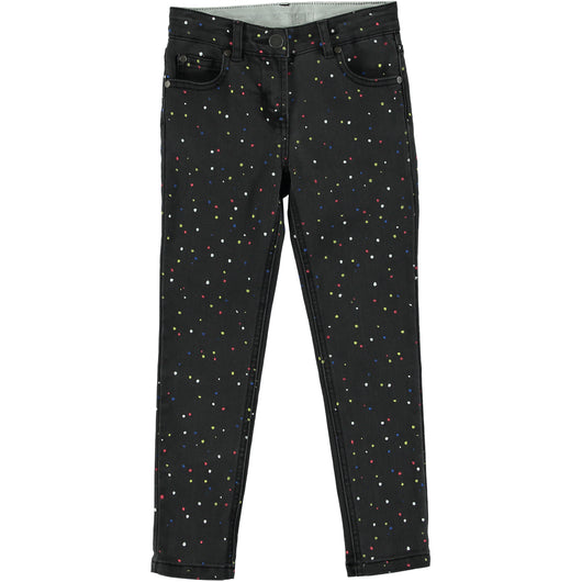 Nina Denim Trousers Dots