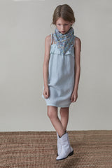 Claire Dress Soft Aqua