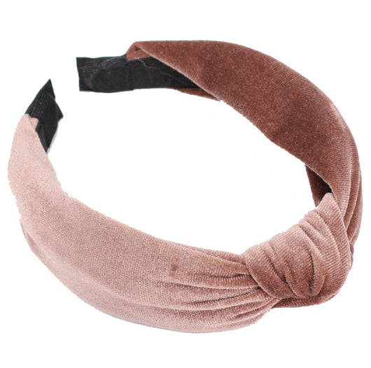 Celine Velvet Headband Coffee
