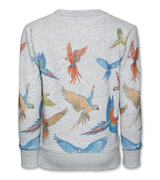 C-neck Sweater Parrots