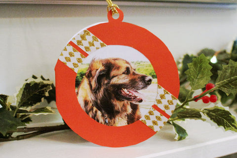 Simple DIY Printable Ornament Card for Your Dog