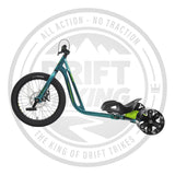 NOTORIOUS 3 DRIFT TRIKE GREEN