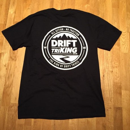 Drift TriKING Black Back Print T-shirt