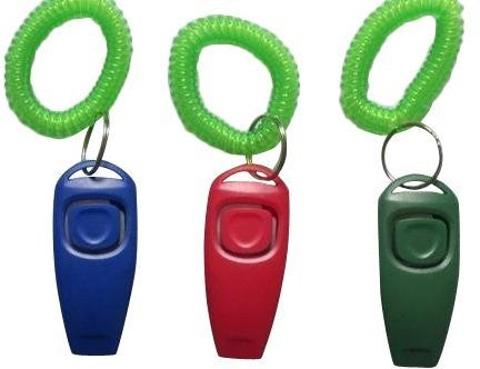 3 Pack of 2-in-1 Dog Training Clicker & Whistle - W/ wrist strap