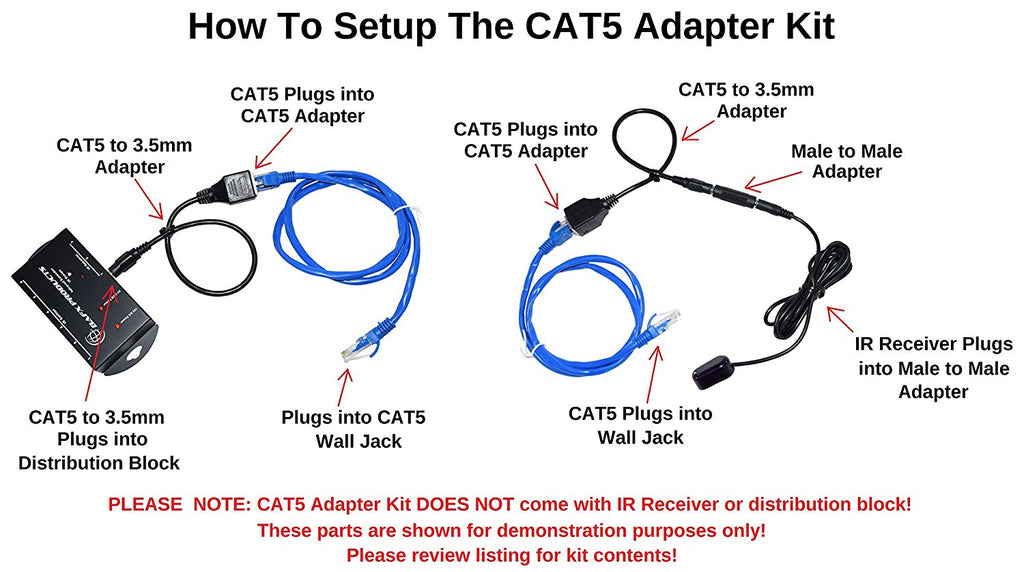 CAT5 Adapter Kit for BAFX Products IR Repeater Kit BAFX Products 1 Year Warranty