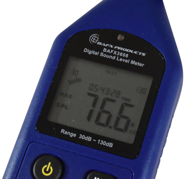 BAFX Products® - Decibel Meter / Sound Level Reader - W/ Battery! (Advanced Sound Meter)