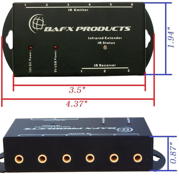 BAFX™ IR Repeater - Remote control extender Kit - Operate 1 to 8 devices! OR more!