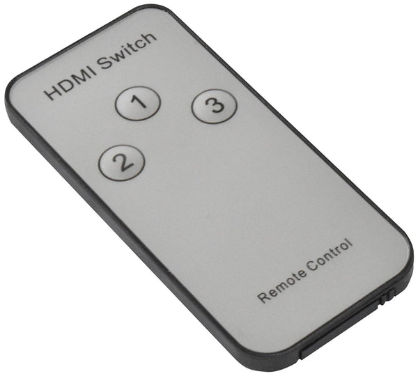 3x1 HDMI Port Switcher W/ IR Remote Control