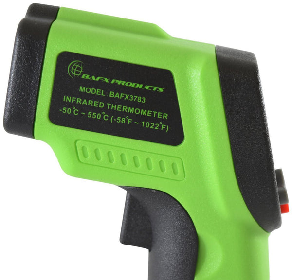BAFX Products® - Non Contact - Infrared (IR) Thermometer (-58F - +1,022F) - Adjustable Emissivity - W/ Pointer Sight