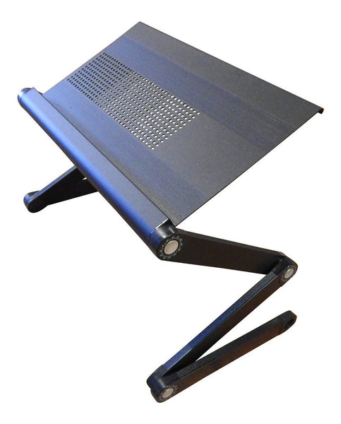 Simplistex™ - Adjustable Folding Laptop Computer Stand - Vented for cooling - BLACK - 2 Year Warranty