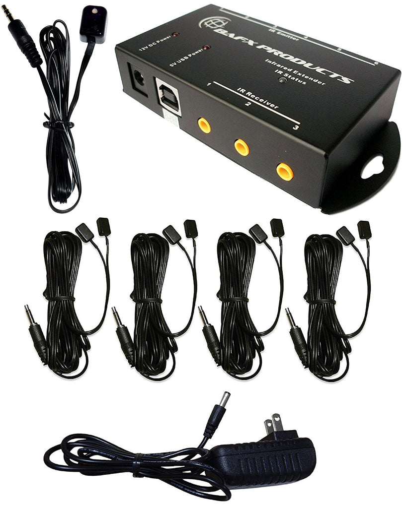 Bafx Products Ir Repeater Remote Control Extender Kit For 1 8 Devices Infrared Device Expandable To