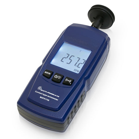 Contact Tachometer for Linear and Rotational RPM Readings