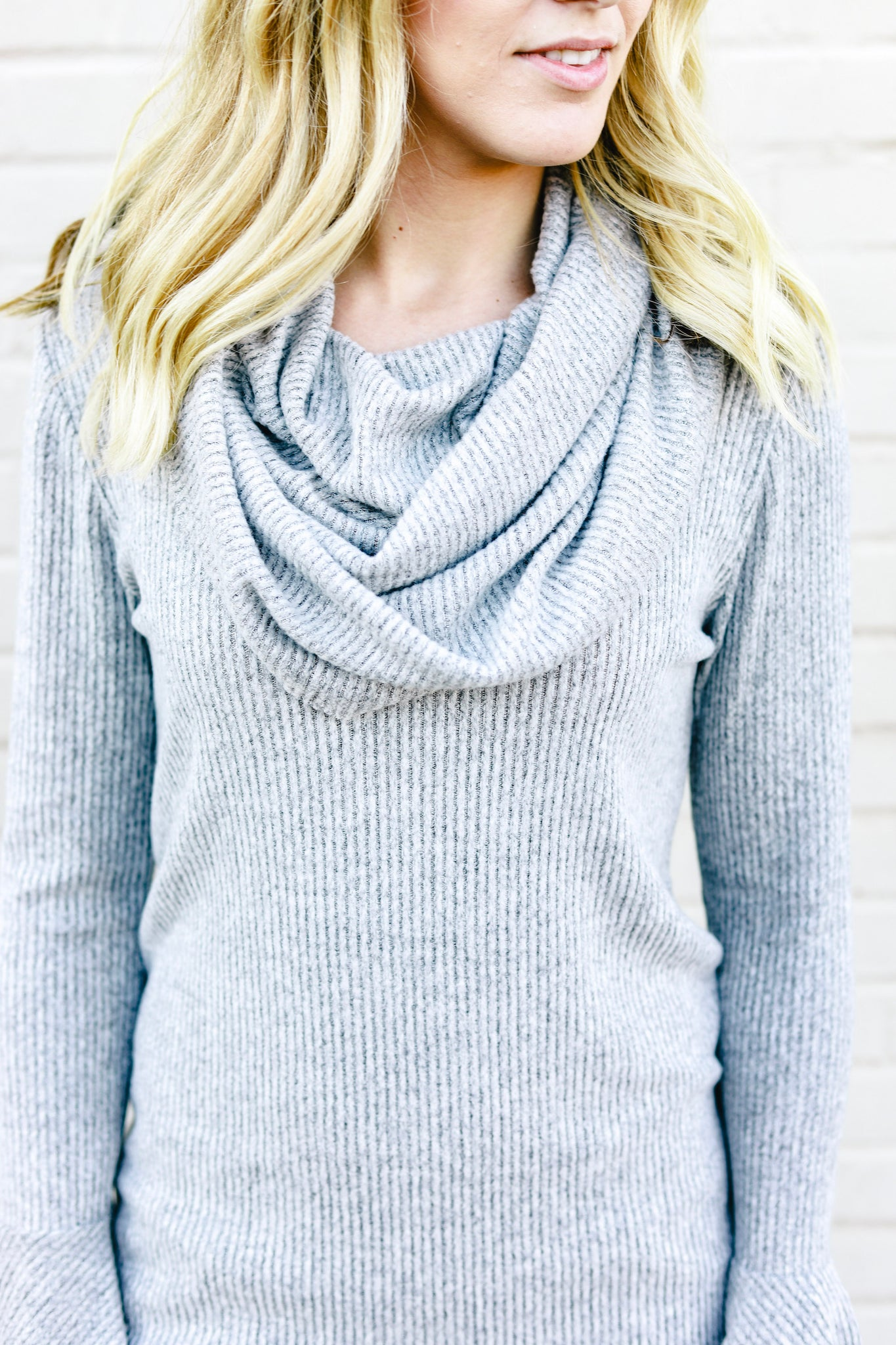 Don't Let Go Cowl Neck Top Grey