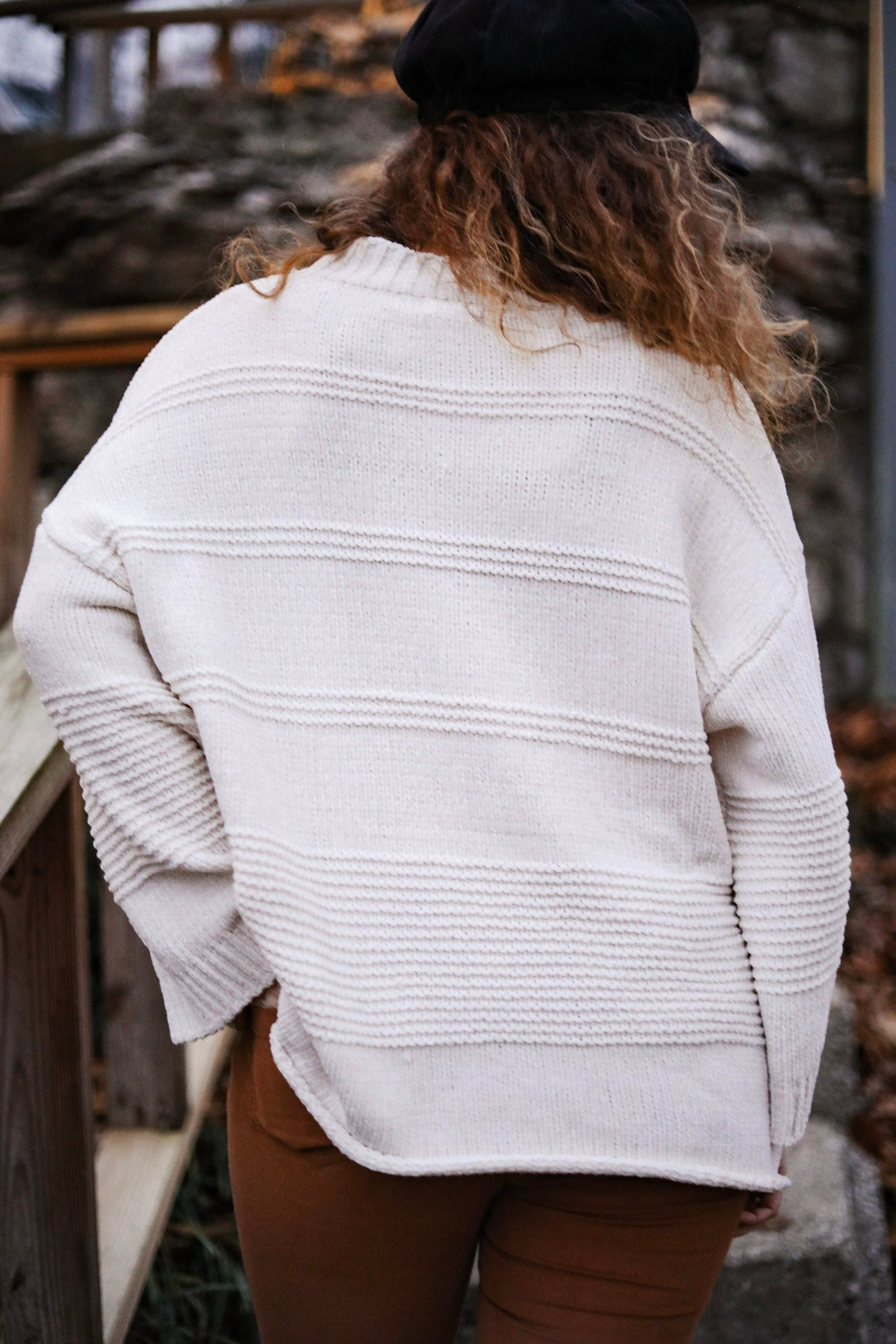 Holiday Wishes Ribbed Sweater
