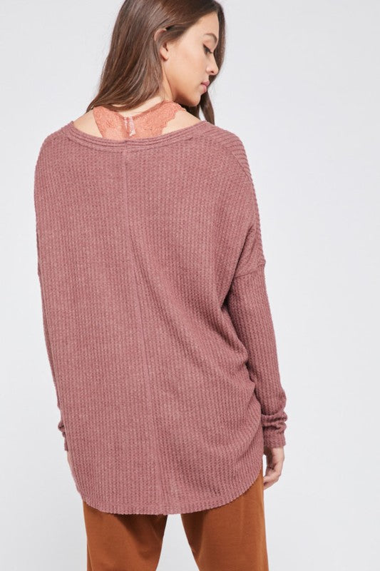 Hailey Waffle Knit Top