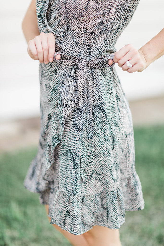 Have Mercy Snakeskin Dress