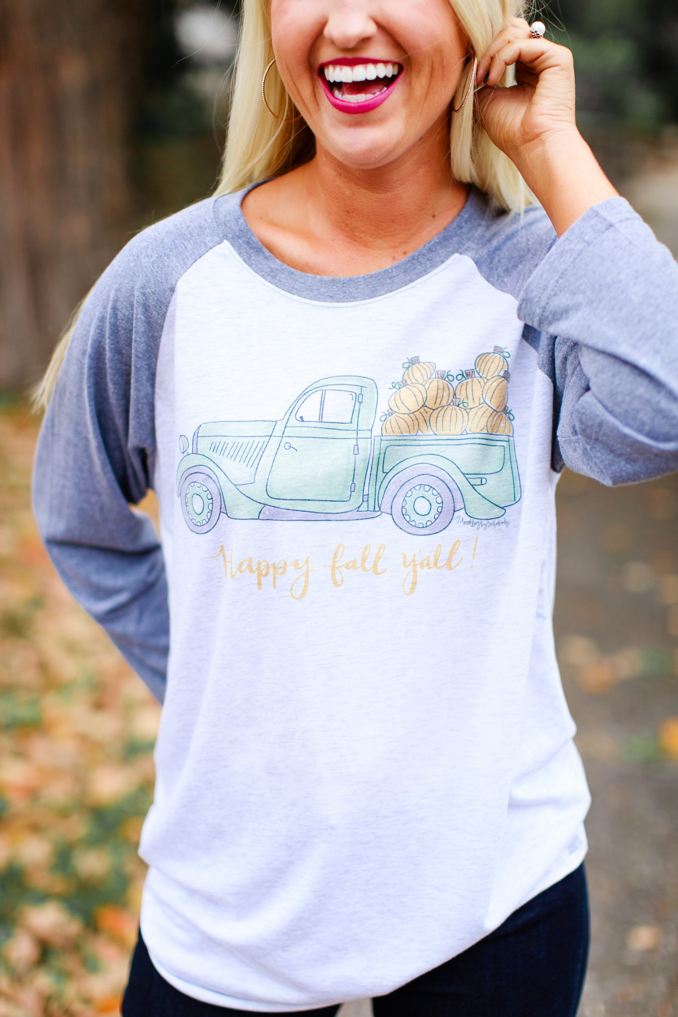 Happy Fall Y'all Raglan Tee