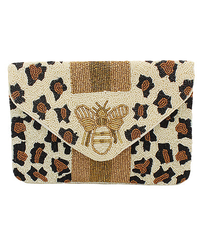 Bee Mine Beaded Clutch