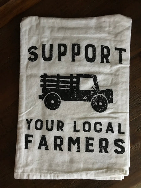 Support Your Local Farmer Dish Towel
