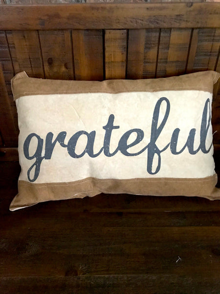 Grateful Canvas Pillow