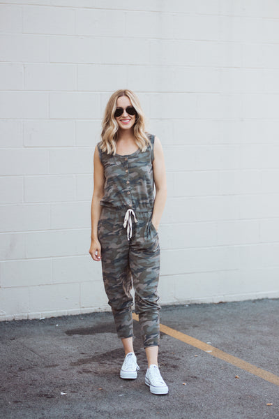 Save the Day Camo Jumpsuit