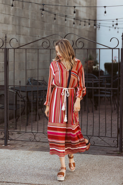 Harvest Striped Dress