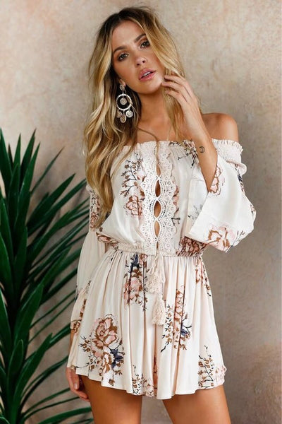 Hey Vacay Floral Romper