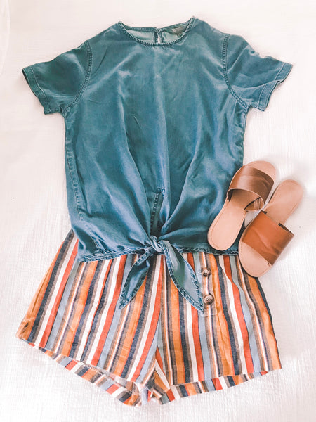 Summertime Fun Striped Shorts