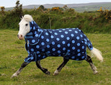 Blue Spotty Medium Turnout Rug