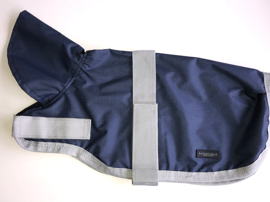 New - Navy Waterproof Dog Coat