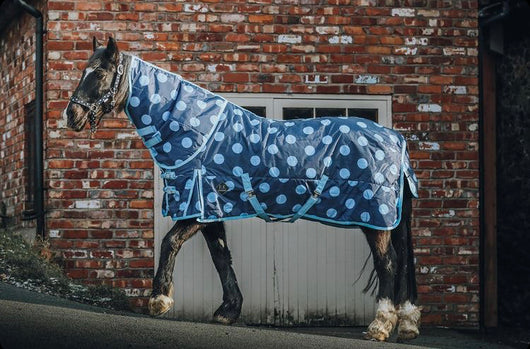 Blue Spotty 100g Stable Rug