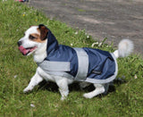Navy Waterproof Dog Coat