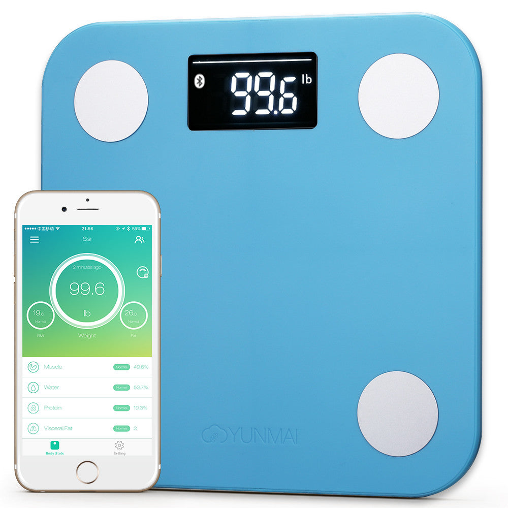Yunmai Mini Bluetooth Samrt Scale - Blue