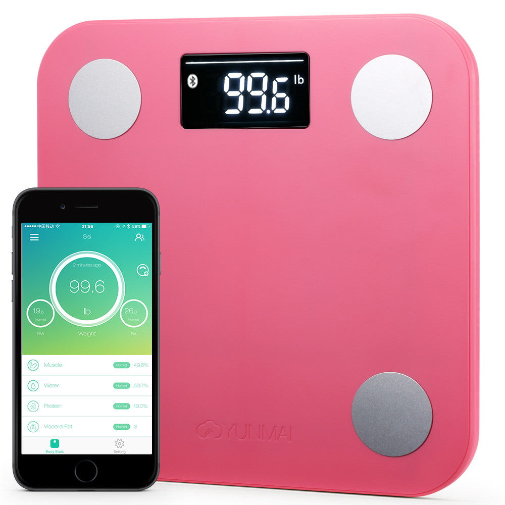 Yunmai Mini Bluetooth Smart Scale - Pink