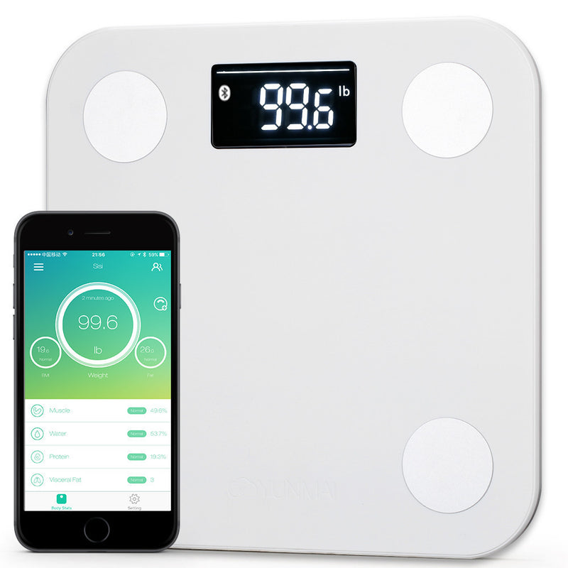 Yunmai Mini Bluetooth Samrt Scale - White