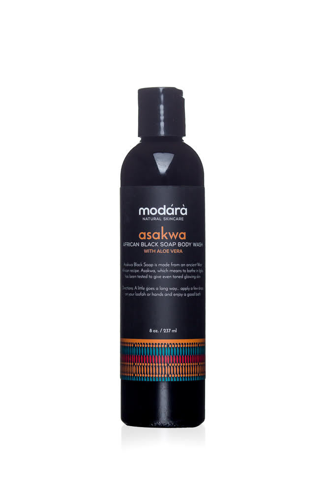 Modara Black Soap Body Wash - Asakwa with Aloe Vera