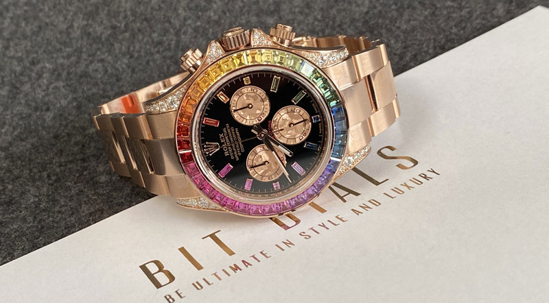 Rolex Daytona Rainbow Everose Gold 116595RBOW – Deliberately Flamboyant.