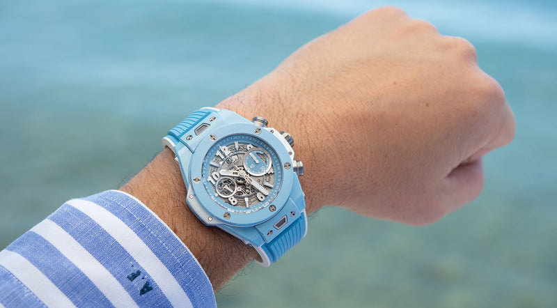 All About The Beach: Hublot Turns Up The Heat With The Big Bang Unico 45 Sky Blue