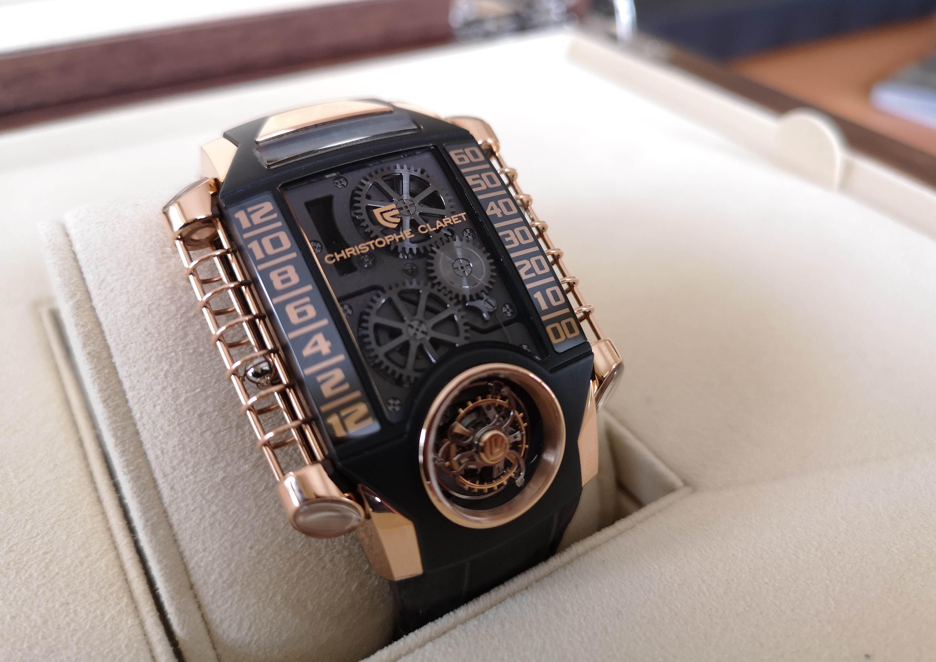 CHRISTOPHE CLARET X-TREM-1 with bitcoin on BitDials