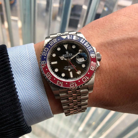 "Buy Rolex GMT II ""Pepsi"" with Bitcoin"