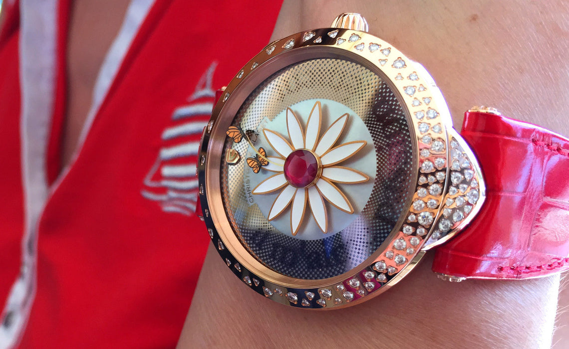 CHRISTOPHE CLARET MARGUERITE with Bitcoin on BitDials