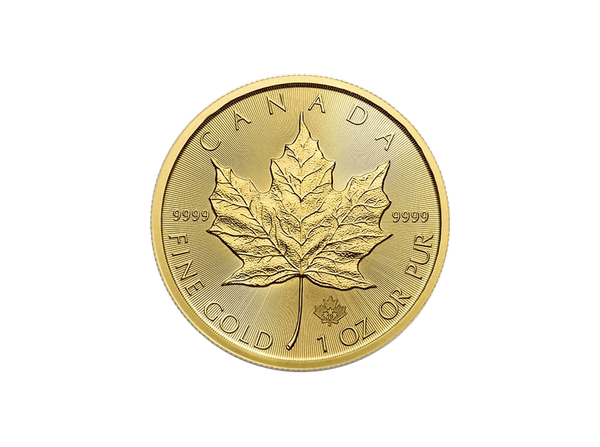 Buy original gold coins 1 oz Canadian Maple Leaf 2019 Gold with Bitcoin!