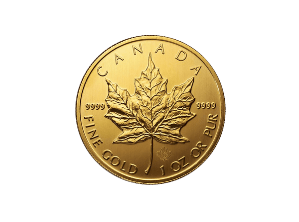 Buy original gold coins 1 oz Canadian Maple Leaf Gold with Bitcoin!