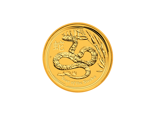 Buy original gold coins 1 oz Gold Australia Lunar 2013 Snake with Bitcoin!