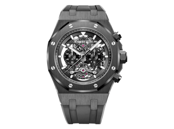 Buy original Audemars Piguet ROYAL OAK TOURBILLON CHRONOGRAPH OPENWORKED with Bitcoins!