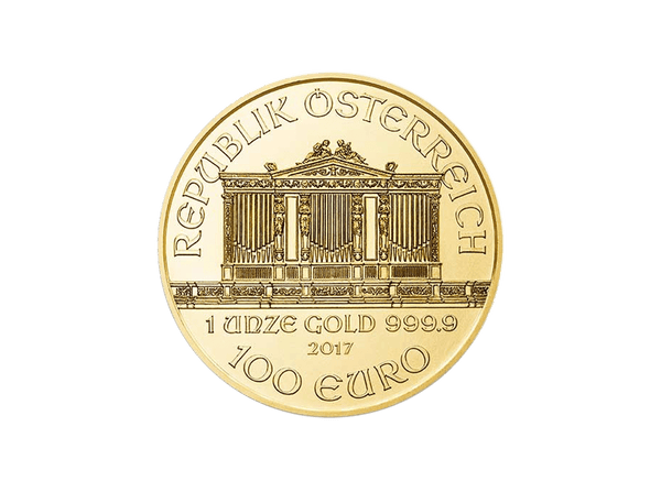 Buy original gold coins Austria 1 oz Vienna Philharmonic Gold with Bitcoin!