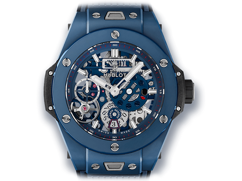 Buy original Hublot BIG BANG MECA-10 CERAMIC BLUE 414.EX.5123.RX with Bitcoins!