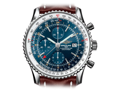 Buy original Breitling NAVITIMER 1 CHRONOGRAPH GMT A2432212/C651/443X/A20BA.1 with Bitcoins!